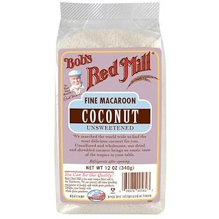 Bob's Red Mill, ファインマカルーンココナツ、 無糖、 12オンス (340 g)