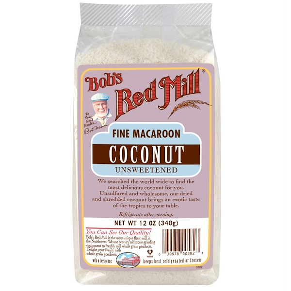 Bob's Red Mill, Fine Macaroon Coconut, Unsweetened, 12 oz (340 g) (Discontinued Item)