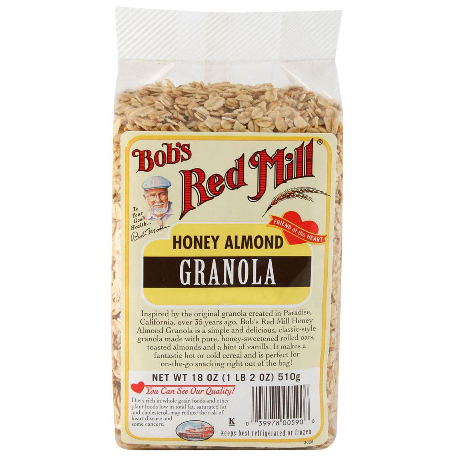 Bob's Red Mill, Гранола с медом и миндалем, 18 унций (510 г)