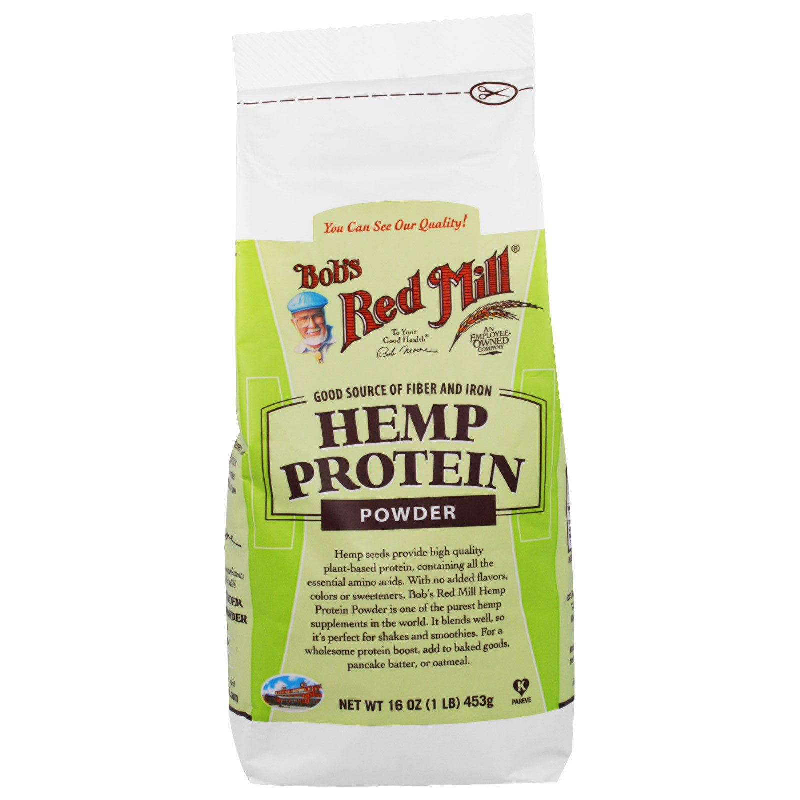 Bob S Red Mill Hemp Protein Powder 16 Oz 453 G Iherb