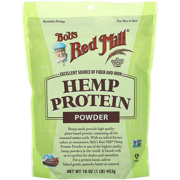 Bob's Red Mill, مسحوق بروتين القنب الهندي، 16 أونصة (453 غرام)