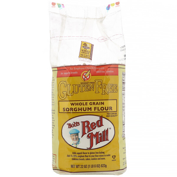 Bob's Red Mill, Whole Grain Sorghum Flour, Gluten Free, 22 oz (623 g) (Discontinued Item)