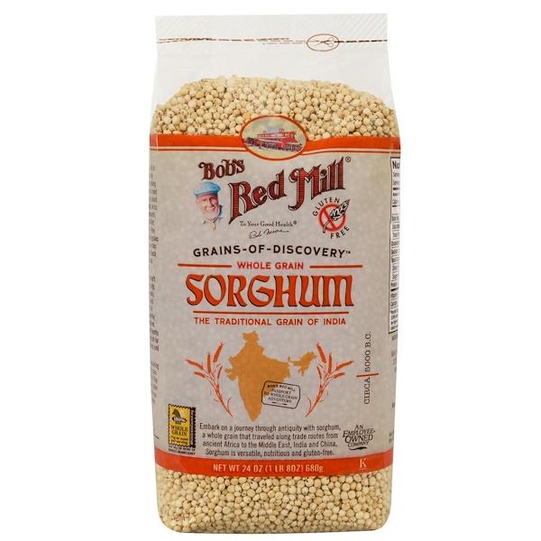 Bob's Red Mill, Sorghum, Whole Grain, 24 oz (680 g) (Discontinued Item)
