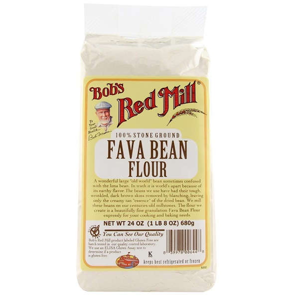Bob's Red Mill, Fava Bean Flour, 24 oz (680 g) (Discontinued Item)