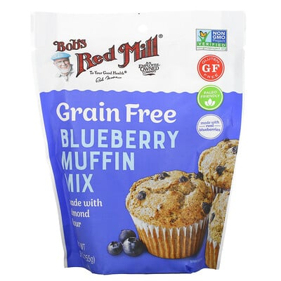 Bob's Red Mill Grain Free, Blueberry Muffin Mix Made With Almond Flour, 9 oz (255 g)