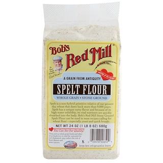 Bob's Red Mill, Мука из спельты, цельнозерновая, жерновой помол, 24 унции (680 г)
