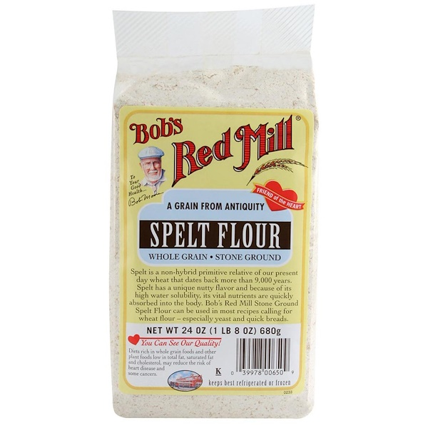 Bob's Red Mill, Spelt Flour, Whole Grain, 24 oz (680 g) (Discontinued Item)