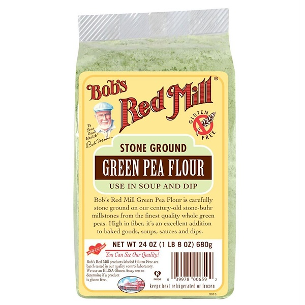Bob's Red Mill, Green Pea Flour, 24 oz (680 g) (Discontinued Item)