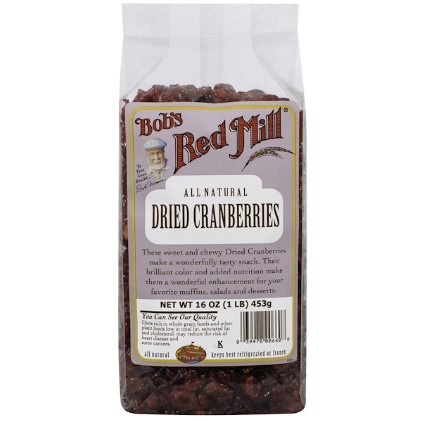 Bob's Red Mill, Dried Cranberries, 16 oz (453 g) (Discontinued Item)