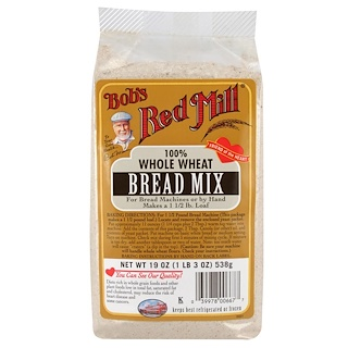 Bob's Red Mill, Bread Mix, 100% Whole Wheat, 19 oz (538 g)