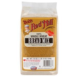 Бобс Рэд Милл, Bread Mix, 100% Whole Wheat, 19 oz (538 g) отзывы покупателей