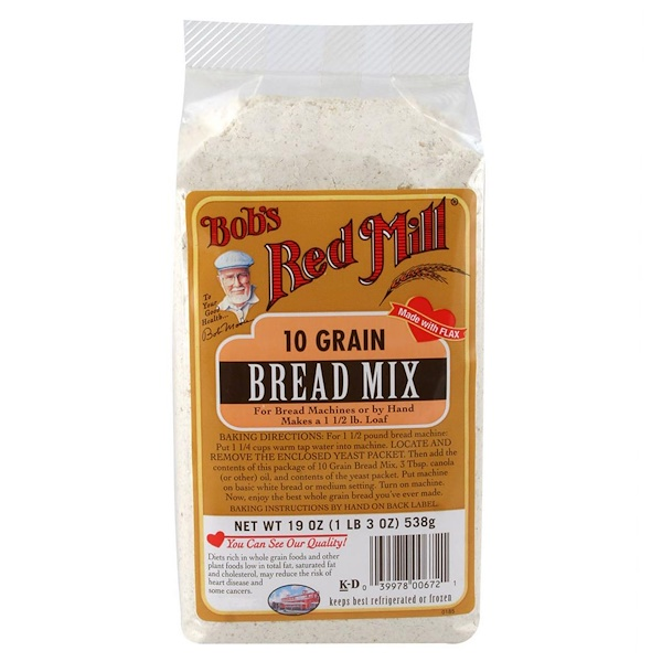 10 Grain, Bread Mix, 19 oz (538 g)