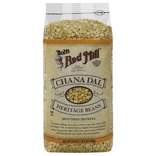 Bob's Red Mill, Chana Dal, Heritage Beans, 24 oz (680 g)