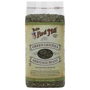 Бобс Рэд Милл, Green Lentils Heritage Beans, Petite French Style, 24 oz (680 g) отзывы