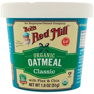 Бобс Рэд Милл, Organic Oatmeal Cup, Classic with Flax & Chia, 1.8 oz (51 g) отзывы покупателей