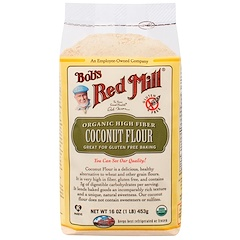 Bob's Red Mill, 有機高纖維椰子粉,無麩質,16 盎司(453 克)