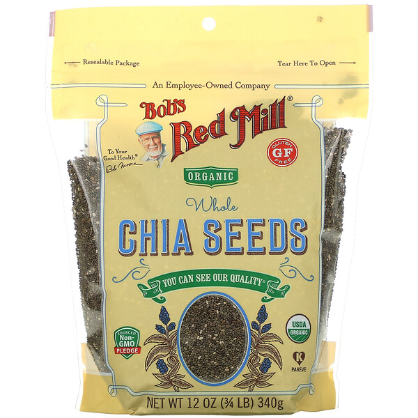 Organic Whole Chia Seeds, 12 oz (340 g)