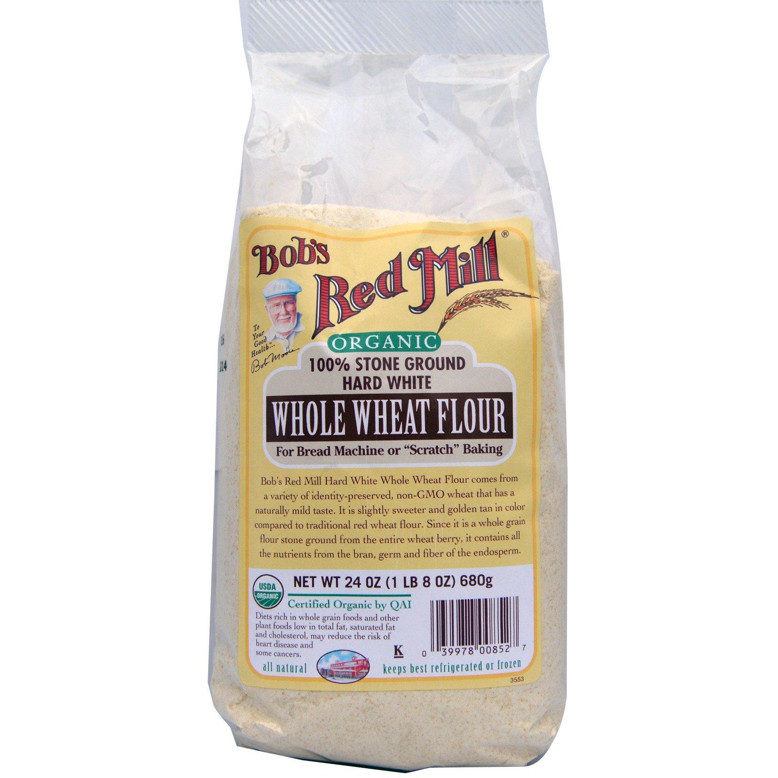 White whole wheat flour nutrition