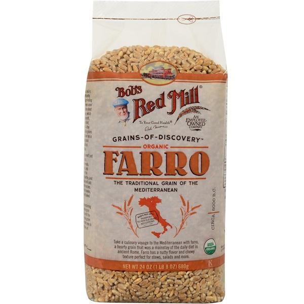 Bob's Red Mill, Organic Farro, 24 oz (680 g) (Discontinued Item)