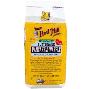 Бобс Рэд Милл, Buttermilk Pancake & Waffle Mix, Whole Grain, 26 oz (737 g) отзывы