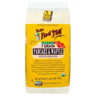 Bob's Red Mill, Organic, 7 Grain Pancake & Waffle Whole Grain Mix, 1.6 lbs (737 g)