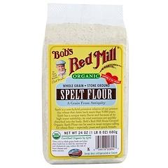 Bob's Red Mill, Farine complète d'épeautre bio, 24oz (680g)