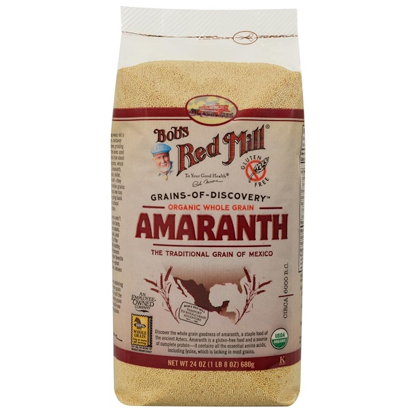 Bob's Red Mill, Органические цельные зерна амаранта, 24 унции (680 г)