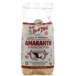 Бобс Рэд Милл, Organic Amaranth, Whole Grain, 24 oz (680 g) отзывы покупателей