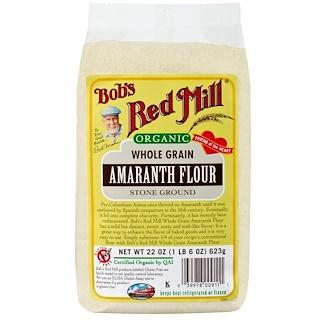 Bob's Red Mill, Organic, Whole Grain Amaranth Flour, 22 oz (623 g)