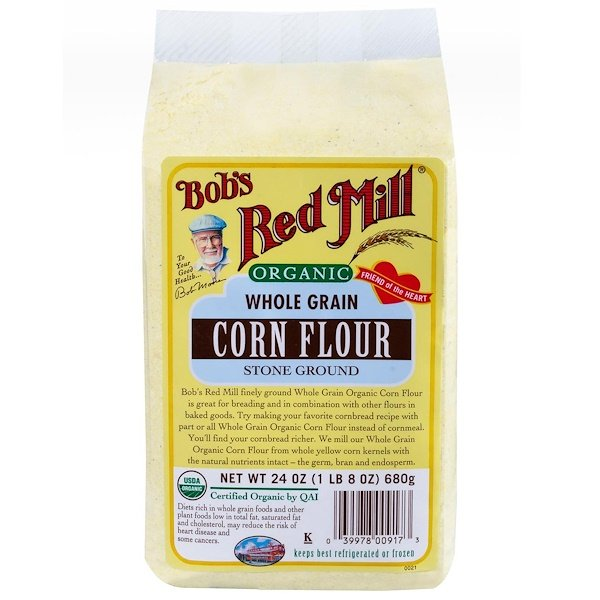 Bob's Red Mill, Organic, Whole Grain Corn Flour, 24 oz (680 g)