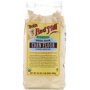Бобс Рэд Милл, Organic Corn Flour, Whole Grain, 24 oz (680 g) отзывы покупателей
