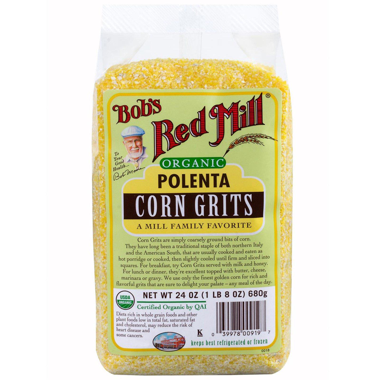 Bob's Red Mill, Organic, полента, кукурузная крупа, 24 унции (680 г)
