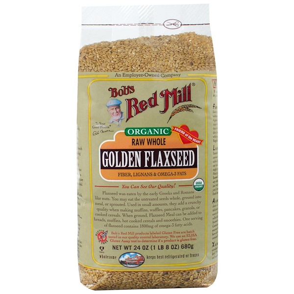 Bob's Red Mill, Organic, Golden Flaxseed, 24 oz (680 g) (Discontinued Item)