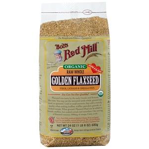 Бобс Рэд Милл, Organic, Golden Flaxseed, 24 oz (680 g) отзывы покупателей