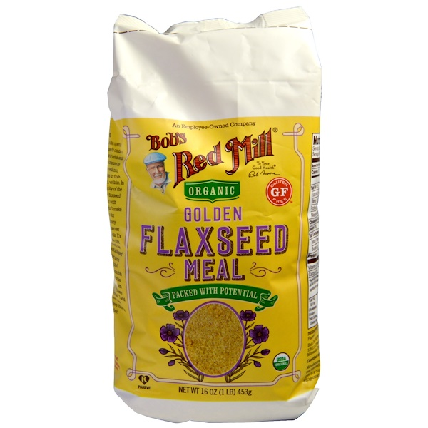 Bob's Red Mill, Organic Golden Flaxseed Meal, 16 oz (453 g) (Discontinued Item)