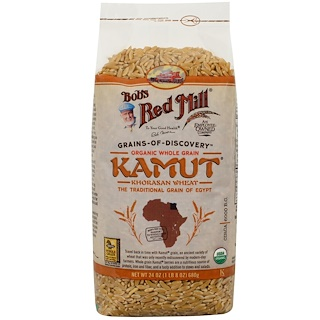 Bob's Red Mill, Organic Whole Grain Kamut, 1.5 lbs (680 g)