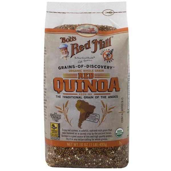 Bob's Red Mill, Organic Whole Grain Red Quinoa, 16 oz (453 g)