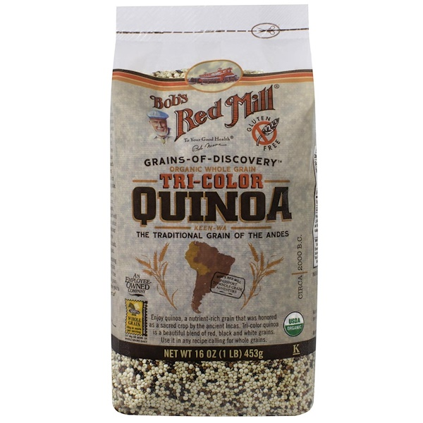 Bob's Red Mill, Organic Whole Grain Tri-Color Quinoa, 16 oz (453 g)