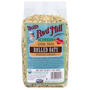 Бобс Рэд Милл, Organic, Extra Thick Rolled Oats, 16 oz (453 g) отзывы