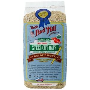 Бобс Рэд Милл, Organic Steel Cut Oats, Whole Grain, 24 oz (680 g) отзывы покупателей