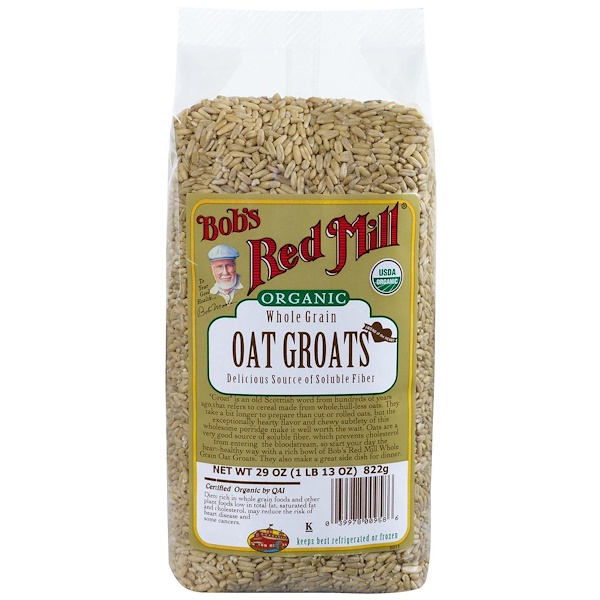 Bob's Red Mill, Organic Whole Grain Oat Groats, 29 oz (822 g)