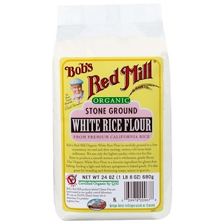 Bob's Red Mill, Organic Stone Ground White Rice Flour, 24 oz (680 g)