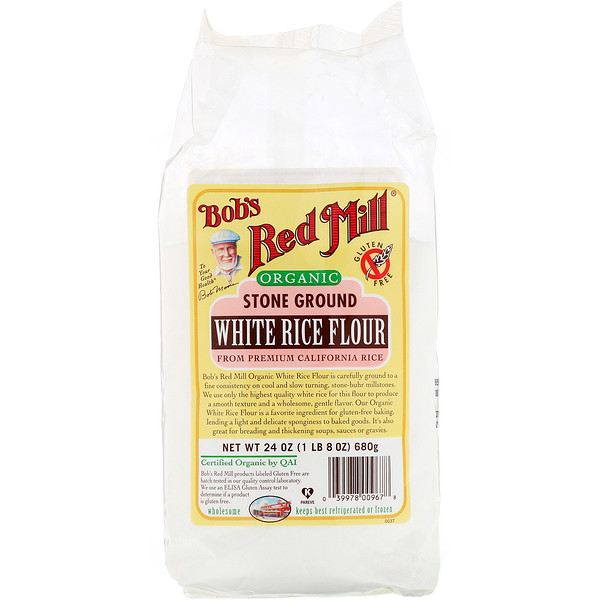 Bob's Red Mill, Organic White Rice Flour, 24 oz (680 g) (Discontinued Item)