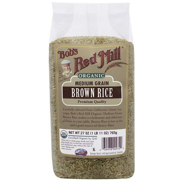 Bob's Red Mill, Organic, Medium Grain Brown Rice, 27 oz (765 g) (Discontinued Item)