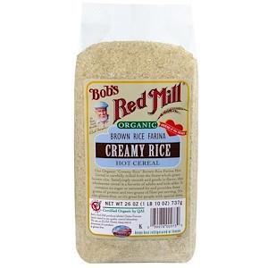 Бобс Рэд Милл, Organic Brown Rice Farina, Creamy Rice Hot Cereal, 26 oz (737 g) отзывы