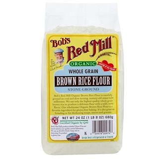 Bob's Red Mill, Organic, Whole Grain Brown Rice Flour, 24 oz (680 g)