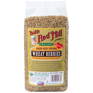 Bob's Red Mill, Organic Hard Red Spring Wheat Berries, 28 oz (793 g)