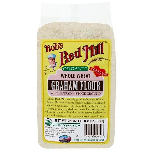 Bob's Red Mill, Органическая цельная пшеничная мука грубого помола, 24 унции (680 г) (Discontinued Item)