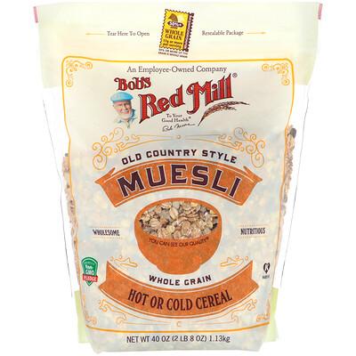 Купить Bob's Red Mill Muesli, Old Country Style, Whole Grain, 40 oz (1.13 kg)