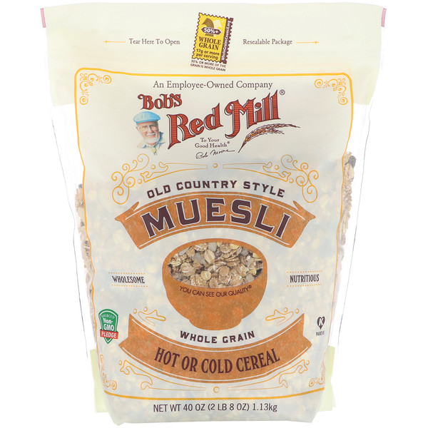 Muesli, Old Country Style, Whole Grain, 40 oz (1.13 kg)
